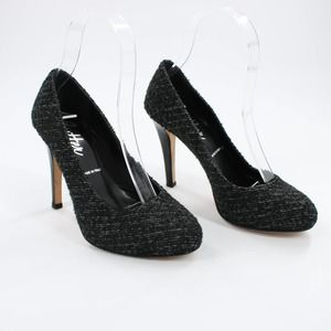 Butter Leather Black Tweed Style Pumps 5
